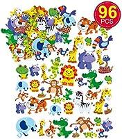 """Baker Ross schuimrubber sticker""""jungle dieren"""" voor kinderen, kaarten en knutselprojecten (96 stuks)"""