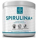 PIULIFE Spirulina+ ● 700 Compresse da 500mg ● Alga Naturale in Polvere Essiccata a Freddo ● Ricca di Clorofilla, Proteine, Am