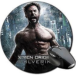 X Men Wolverine Lobezno Hugh Jackman E Alfombrilla Redonda Round Mousepad PC