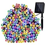 MKT Solar String Light 8 Modes 200 LEDs waterproof for Patio Lawn Garden Home Wedding Christmas Party Decoration (Multicolour, Pack 1)