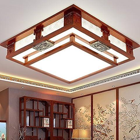midtawer CineseIl LedLampada da soffitto appeso Chun arti di legno lunga atmosfera da salotto camera da letto quadrati ristorante decorato lampade