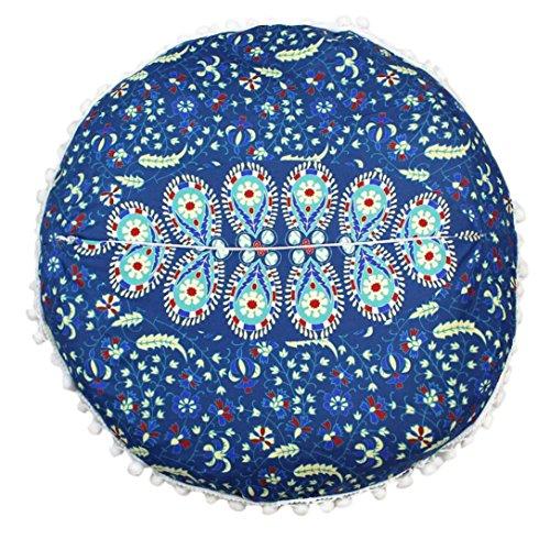 ubabamama rund BOHEMIAN Kopfkissen, indischen Mandala Kissen Einfache Fashion Home Kissen Kissen Schutzhülle Kissen F