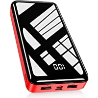 Bextoo Powerbank 30000mAh Große Kapazität Externe Akkus LCD Display Batterie Pack 2 Eingängen 2 Ausgängen Tragbares…