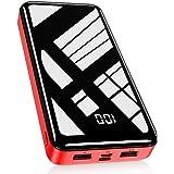 Bextoo Powerbank 30000mAh, Batterie Externe Haute Capacité avec 2 Sorties et Entrée Pack Batterie USB avec Affichage Numériqu