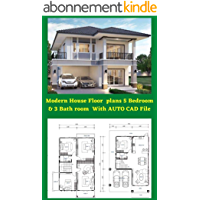 Full Construction Drawing Of Modern House Home Floor Building plans 5 Bedroom & 2 bath room with CAD file: Full…