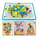 AiSi 296 PCS Pilz Design DIY Steckspiel, Stecksteine, Lernspielzeug, Konstruktion Blöcke ohne scharfe Kanten 3D Puzzle, ab 3 Jahre, Bunt