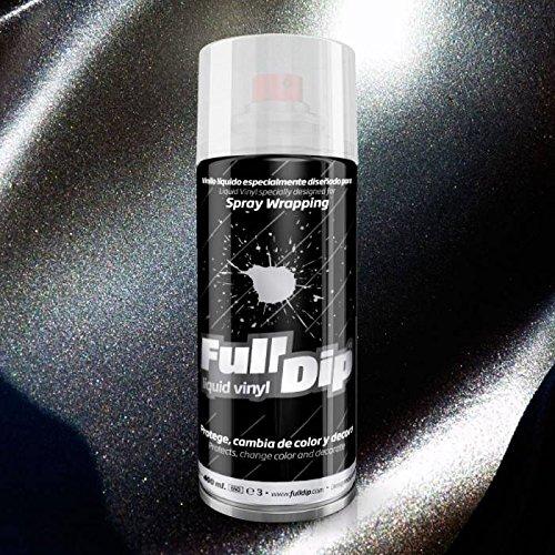 FullDip FLD0207 Vinilo Líquido, Negro Metalizado, 400 ml
