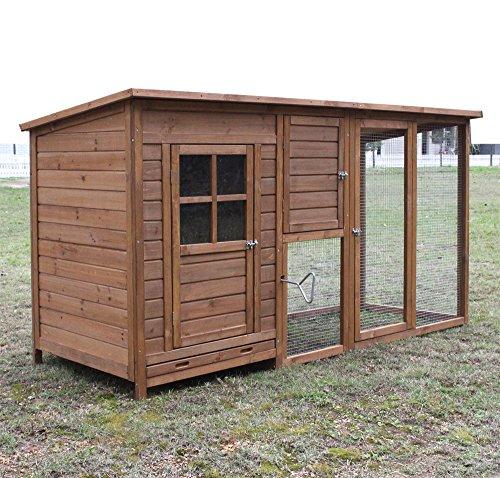 FeelGoodUK - Hühnerhaus mit Eierbox und Freilauf