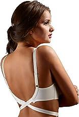 Fabme Women's Low Back Converter - 2 Hook - white