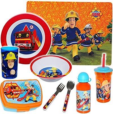 alles-meine.de GmbH Geschirr & Eßzubehör - Feuerwehrmann Sam - Ihr Wunschartikel - Brotdose / Trinkflasche / Unterlage / Besteck / Melamin Geschirr & Unterlage & Kinderbestec..