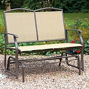 2 Seater Glider Bench With Rocking Action Garden Bench ...