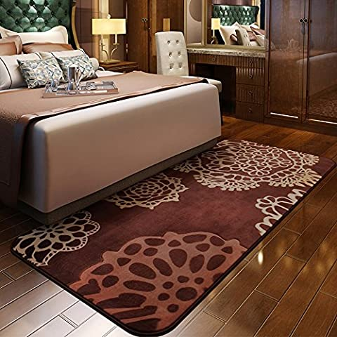 Estilo Europeo Sala de estar Mesa de noche Cama Manta floral rectangular Carpet (color, tamaño Opcional) ( Color : C )