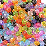#5: Hexawata Acrylic Transparent Beads DIY Jewelry Making Decoration Square Beads for Bracelets Pack of 500(Color Random)