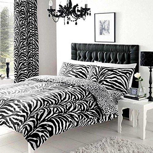 housse de couette noir et blanc. Black Bedroom Furniture Sets. Home Design Ideas