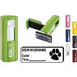 Geocachingstempel Pocketstempel TATZE - Afdrukgrootte ca. 37 x 14 mm - met persoonlijke cachernamen/Nicknamen/Geocaching