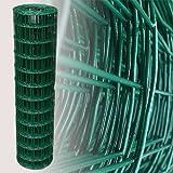 25 Meter Gartenzaun Grün Maschenweite 7,5 x 10 cm (120cm)