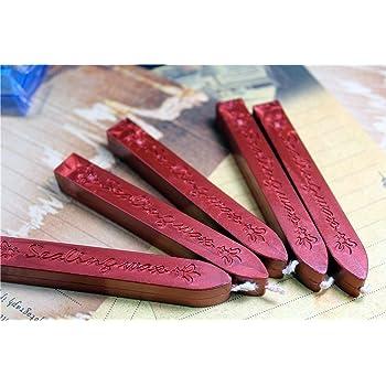 Rose Rot 5/St/ück Mehrfarbig Docht Vintage Siegellack Siegel Stempel Stick Erster Porto Brief Manuscript Wedding Party Supplies