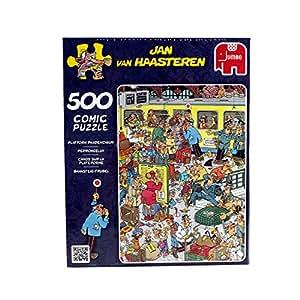 Jan van Haasteren -  Platform Pandemonium Jigsaw Puzzle (500 Pieces)