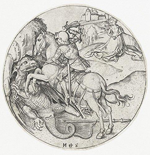 Das Museum Outlet-Der Saint George und der Drache 2. 1470-1490-Poster Print Online kaufen (76,2x 101,6cm)