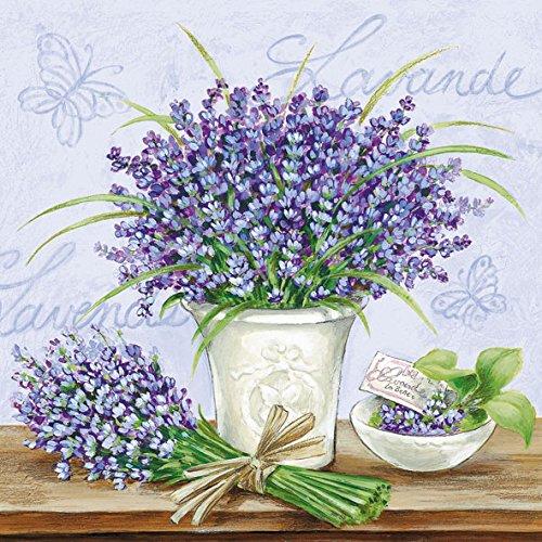ietten, 3-lagig, Lavendel Szene (Lavendel Servietten)