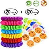 Detectoy Mosquito Repellent Buckle, Outdoor Insect Repellent Badge Clip, Waterproof Bug Repellent,Natural Safe Pest Control Mosquito Repellent Patch Buckle Fits Babies, Kids, Adults and Pets(5Pack