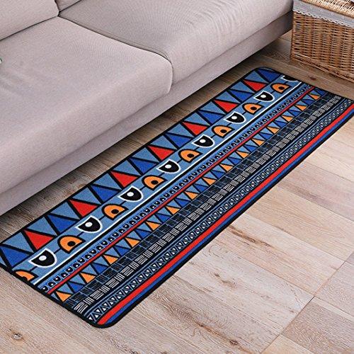 Art Deco Teppiche (PRAGOO Moderne geometrische Teppich Eintrag Türmatte Anti-Rutsch-Schlafzimmer Wohnzimmer Boden Teppichboden kühlen Bereich Teppich 40x120cm)