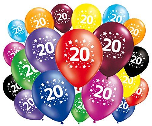 FABSUD Lote de 20globos cumpleaños 20años