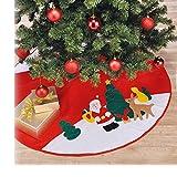 JEMIDI Weihnachtsbaum Christbaum Decke Weihnachtsbaumdecke Unterdecke Unterlage Christbaumdecke 100cm Durchmesser