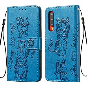 FAWUMAN Hülle für Huawei P30 Mit Schlüsselband,TPU+PU Klapphülle Brieftasche Kartenfächer Handyhülle Stylish Flip Magnetverschluss Geschlossen Case mit Standfunktion