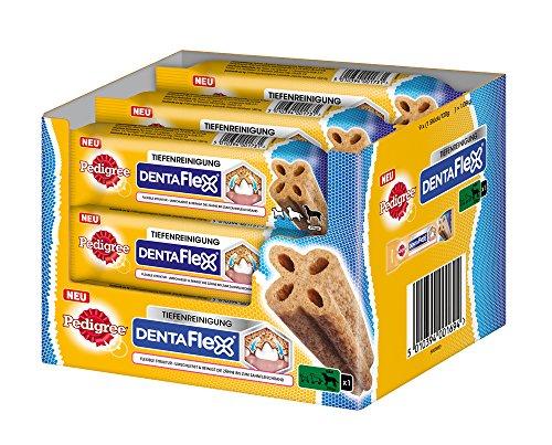 Pedigree DentaFlex Hundesnack für große Hunde (25kg+), Zahnpflege-Snack mit Huhn, 9 Packungen (9 x 120 g)