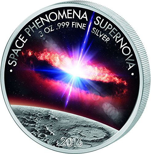 SPACE PHENOMENA SUPERNOVA 3 Oz Silver Coin 1500 Francs Benin 2016