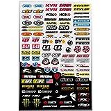 Stickers autocollants déco moto auto FX1 (100 stickers) 39x27cm