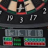 UItrasport Dartboard elektronisch, Classic Dartboard für 8 Spieler, 28 Spiele, 167 Varianten / elektronische Dartscheibe inklusive 12 Softpfeile, Dartspiel mit LED-Anzeige - 4