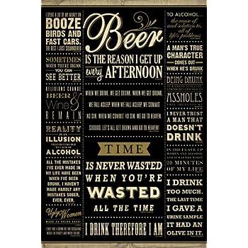 Empire 426758 Poster de citations drôles sur l'alcool en anglais 61x91,5cm