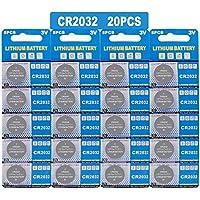GutAlkaLi Batterie au Lithium (CR 2032, Blister de 20 Piles Lithium 3V)