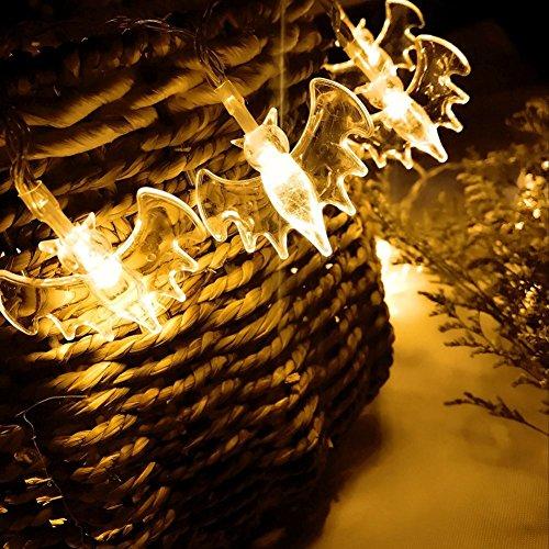 etten 7,22 ft 20 LED Kürbis Lichterketten für Halloween-Dekoration, Party batteriebetrieben (Gelb) (Kürbis-party Dekorationen)