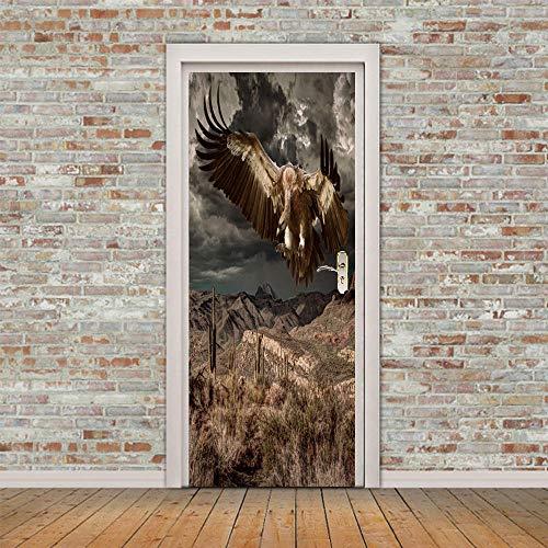 Tapeten-Wandaufkleber Selbstklebend Sticker Adler_3D Kreative Tür Selbstklebendes Papier Schlafzimmer Wohnzimmer Bergadler - Adler-raum-dekor
