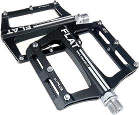 UPANBIKE Mountainbike-Kugellager-Pedale 9/16 Zoll Spindel Aluminiumlegierung Flache Plattform für BMX MTB Rennrad