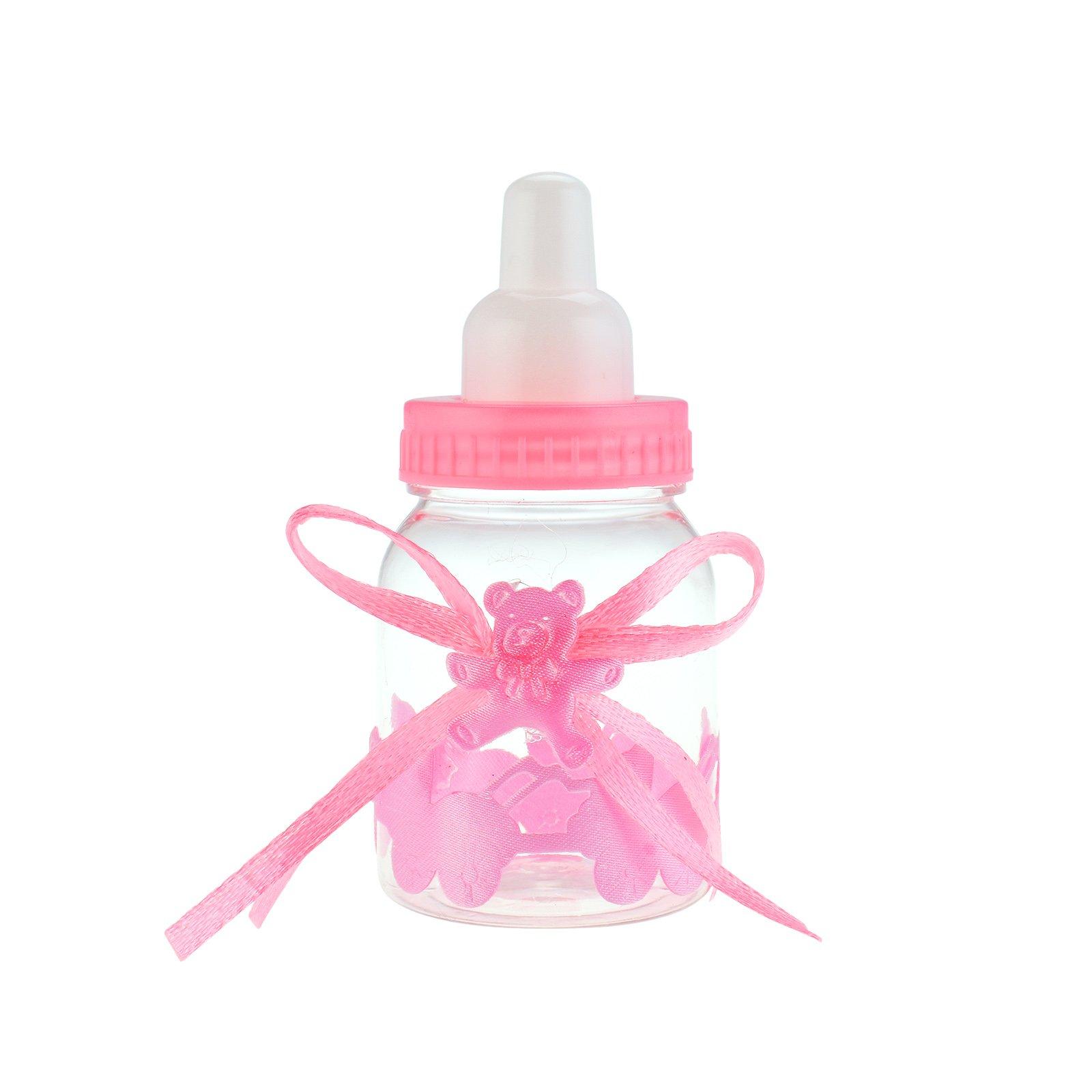 KMALL Rosa Biberon Portaconfetti Vasetto Caramelle Forma Di Bambino bambina Bottiglia bottigliette P