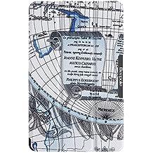 BeePole Funda para Amazon Kindle Fire 2015–Smart tri-folder piel sintética cubierta caso caja protectora de la tableta para Amazon Kindle Fire 2015, con función atril y función de cierre magnético color azul
