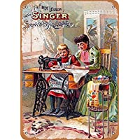 Yohoba Singer máquina de Coser Vintage Look 30,48 cm x 45,72 cm