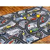 Kinderteppich Spielteppich Straßenteppich Disney Cars Grau in 24 Größen