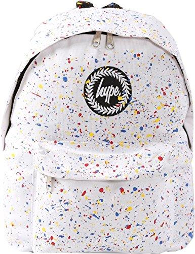 Hype Uomo Zaino Logo Speckle, Blu Primary Splat White