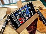 Akira Handmade Original Premium Echtleder Wallet Case für Sony Xperia Z5 Premium Braun