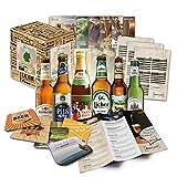 'Bier Spezialitäten aus Deutschland' Geschenkidee für Männer INKL. Bierdeckel + Geschenkkarton + Bier-Info....