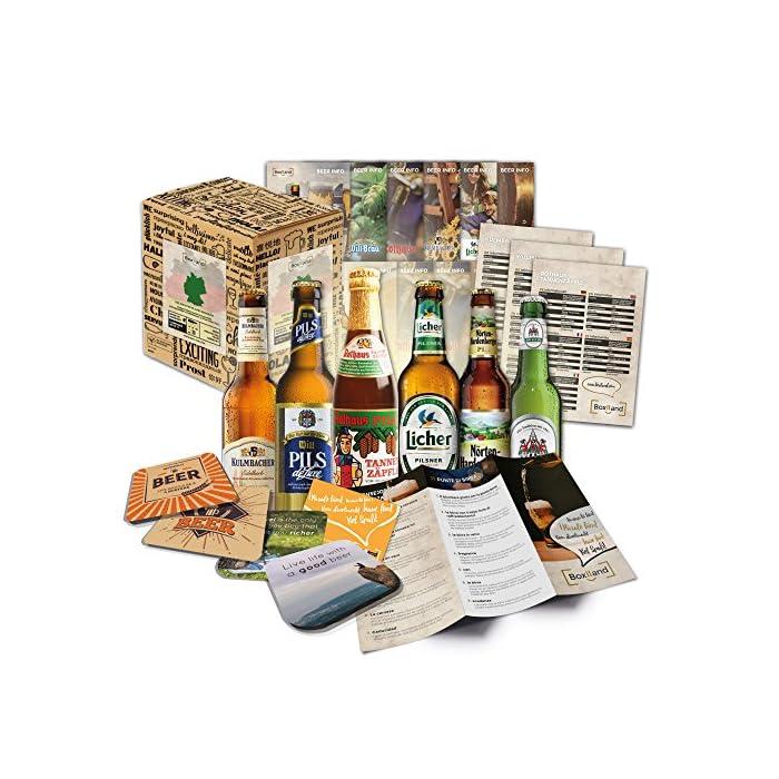 """""""BIERE DER WELT"""" Geschenkidee für Männer INKL. Bierdeckel + Geschenkkarton + Bier-Info. Biergeschenk für Männer oder als ausgefallene Geschenke für den Freund. Die perfekte Geschenkidee für Männer 1"""