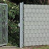 Videx PE Sichtschutzstreifen für Doppelstabmatten, 19 x 200 cm, beige/anthrazit