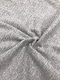 Bündchen Stoff uni nicht gerippt, marineblau, grau meliert