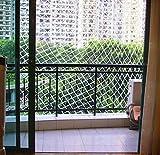 Yahee Reißfeste Katzennetz Sicherheitsnetz Balkonnetz Schutznetz für Balkon, Terrasse, Fenster 3 x 6 m Weiß - 4