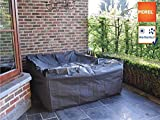 Perel Garden OCLS-XL Schutzhülle Für Lounge-Set, Schwarz, 280 x 230 x 80 cm